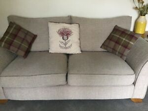 Two sofas and stool