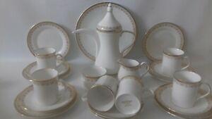 Elizabethan Hand Decorated Clifton Fine Bone China Coffee Set 22pce Unused.mint.
