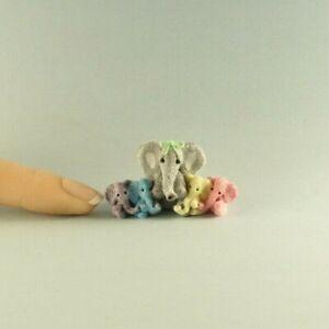 OOAK~Elephant~Pastel~Mini~Sculpt~Baby Toys~Artist Doll~Dollhouse~Cheryl Brown