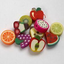 Diseño de fruta Arcilla Beads-Decorativo grano de la fabricación de joyas-Paquete De 30 frutas