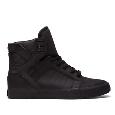 NEW SUPRA SKYTOP BLACK BLACK SURF SNOW MX  SKATEBOARD HIP HOP SPORTS SHOES 9.5