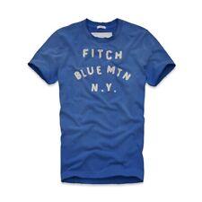 [NWT] Abercrombie & Fitch Men Vintage Tee Polo Short Shirts Blue (Sz L) A&F