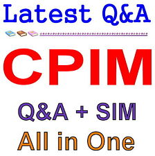 Certified in Production and Inventory Management CPIM Exam Q&A PDF+SIM