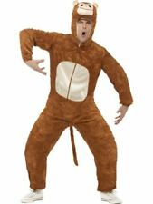 Adults Monkey Costume Mens Ladies Animal Fancy Dress Zoo Jungle Outfit Plush