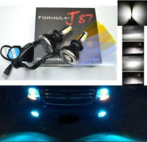 LED Kit G5 80W H7 8000K Icy Blue Two Bulbs Light Turn Cornering Replace Upgrade