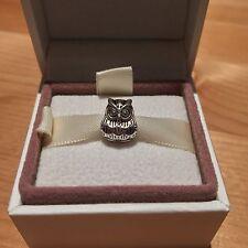 Night Owl Charm - Silver Tone - Suits Pandora Charm Bracelet - Animal Bead