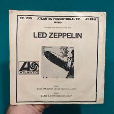ULTRA RARE! Led Zeppelin 45 Dazed & Confused/Babe I'm Gonna Leave You Promo Mono
