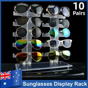 10 Pairs Acrylic Sunglasses Eye Glasses Display Rack Stand Holder Organizer AU