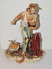 Magnificent Capodimonte Porcelain Figurine of a Bird Farmer - with Tag