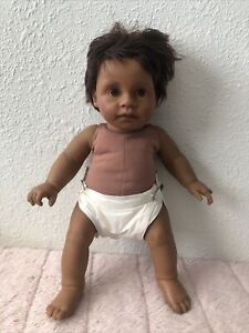 """African American 1985 19"""" Real Baby Judith Turner weighted Baby doll reborn ooak"""