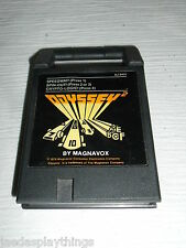 Magnavox Odyssey 2 Cartridge Speedway Spin Out Crypto Logic 3 in 1 Game