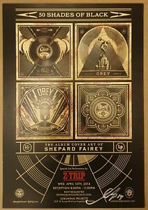 Shepard Fairey (OBEY) - Z-Trip Poster : 50 Shades Of Black - Signed - 2014