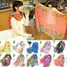 Womens Long Cotton Voile Floral Printed Shawl Scarf Wrap Stole For Girls/Lady