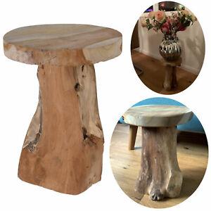 Teak-Holz Sitzhocker Beistelltisch Hocker Couchtisch Nachttisch Shabby Vintage