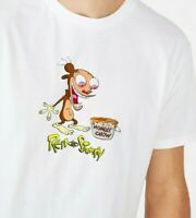Ren /& Stimpy Shirt Mens S,M,L,XL TV Show RETRO 90s Cartoon Indica Marijuana Weed