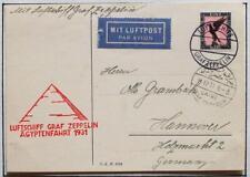 GERMANY to EGYPT 1931 ZEPPELIN, Ägyptenfahrt/Flight Airmail Cover , ex Nutley !!