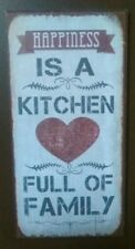 Happiness Is A Kitchen Full Of Family  -Quality Metal Fridge Magnet