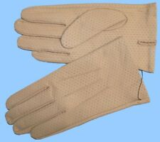 NEW MENS size 8 or Small TAN PIG PERFORATED LEATHER UNLINED GLOVES shade 10536