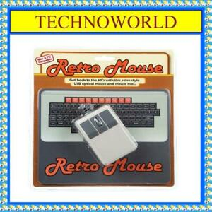 RETRO WIRED USB+OPTICAL COMPUTER & LAPTOP MOUSE + MOUSE PAD◉PC & MAC COMPATIBLE