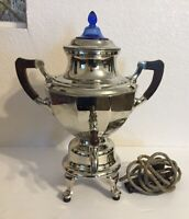 Vtg. Manning Bowman Coffee Pot Urn Somavor Art Deco