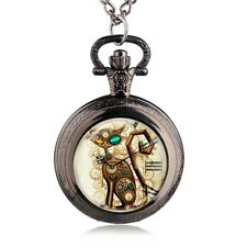 Bronze Vintage Cat Locket Pocket Watch Pendant! A Beautiful Gift Idea!