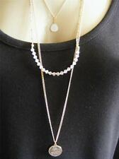 $16 Stephan & Co 3-Tier Layered Je T'aime *I Love You* Pendant Beaded Necklace