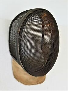 antique FENCING MASK old adult sized HOOS owned sports fighting primitive