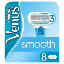 Gillette Venus Original Smooth Women's Razor Blades 3-Blade Head Refills, 8 Pack