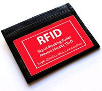 Black RFID BLOCKING LEATHER Men's Wallet Front Pocket Credit Card ID U.S Seller