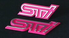 Wrx Sti Grill & Boot Badge Set