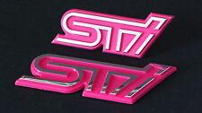 Wrx Sti Grill & Boot Badge Set