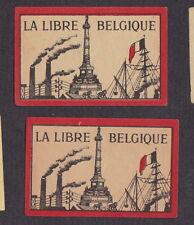ancienne étiquette allumettes  Belgique  BN14902 La Libre Belgique