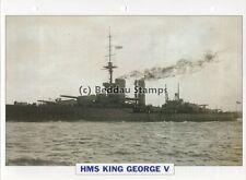 1911 HMS KING GEORGE V Battleship Capital Ship / GB Warship Photograph Maxi Card