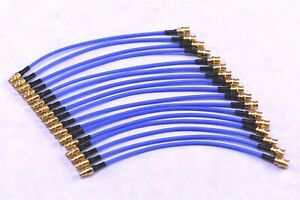 """17 MMCX to MCX 50 Ohm 0-6GHz 1.32mm 0.052 in RF Microwave 3"""" Test Cables"""