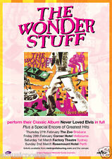 "Wonder Stuff ""Never Loved Elvis"" 2014 Australian Concert Tour Poster - Alt. Rock"