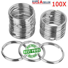 100Pcs Key Rings Chains Split Ring Hoop Metal Loop Steel Accessories 25mm |USA