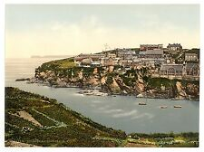 2 Victorian Views Port Isaac Cornwall Photochroms Old Vintage Photos Poster NEW