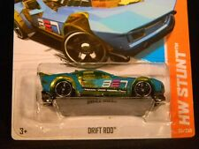 HW HOT WHEELS 2013 HW STUNT #85/250 DRIFT ROD HOTWHEELS TEAL RACE TRACK READY