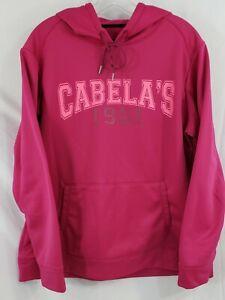 Cabela's Women's Hooded Sweatshirt X-Large Dark Pink Long Sleeve Gently Used