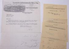 1928 Lamson Goodnow Charles Bick Brooklyn NY Handwritten Notes Ephemera L284D