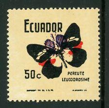 ECUADOR MNG Butterflies Specialized: Scott #801VAR 50c COLOR INVERTED $$$