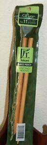 """Clover 8mm #11 Premium Takumi Bamboo 9"""" Knitting Needles Wooden 3011/11"""