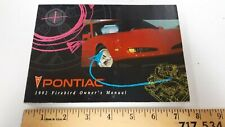 1992 PONTIAC Firebird - Original Owner's Manual - Good Condition