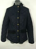 WOMENS JOULES MOREDALE NAVY BLUE QUILTED LIGHTLY PADDED FITTED JACKET COAT UK 8