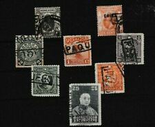 SUPERB LOT OF EIGHT CHINA HONG KONG STAMPS ALL WITH PAQUEBOT CANCELS 67*