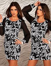 Knee Length Polyester Long Sleeve Tunic Dresses for Women