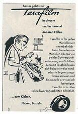9/452 WERBUNG AUS EINER ZEITSCHRIFT  TESAFILM MODELL BAU  RÜCKSEITIG BEDRUCKT