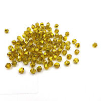 1000pcs Austria Crystal Glass bead 4mm #5301 Bicone beads DIY jewelry make #242