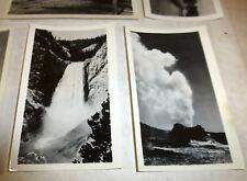 """""""Yellowstone Park Views"""" souvenir set of 15 black and white photos; Old Faithful"""