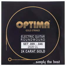 OPTIMA 24 Carat Gold Electric Guitar Strings | 2028CL 2028 CL | .009-.046